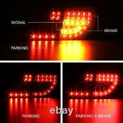 Pour 09-10 Base Le Xle Xrs S Corolla Black Led Tail Lights Trunk 4pc
