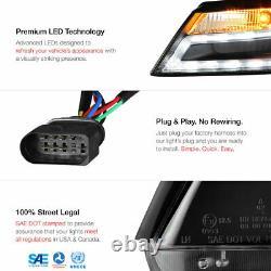 Pour 09-12 Audi A4 B8 Infinity Noir Projecteur Phares Drl Led Light Bar Euro