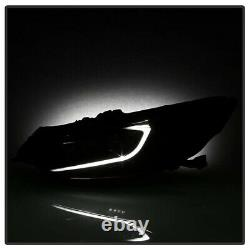 Pour 09-14 Acura Tsx Cu2 Led Tube De Lumière Drl Projecteur De Remplacement Lampe De Tête Noir