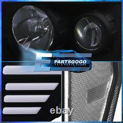 Pour 09-14 Ford F150 Black Clear Led Drl Tube Projecteur Phares Lampes Paire Set