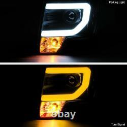Pour 09-14 Ford F150 Black Switchretour Led Neon Tube Halo Drl Projecteur Phare