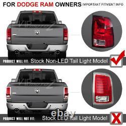 Pour 09-18 Dodge Ram 1500 2500 3500 Black Clear Led Tail Lampe De Frein Léger Led