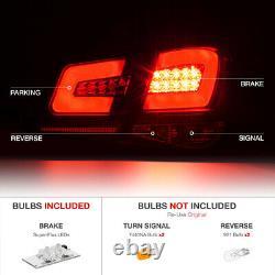 Pour 10-15 Chevy Cruze Oled Neon Tube 4pc Led Feux De Queue Arrière Lampes Noir Set