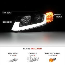 Pour 12-15 CIVIC Coupe Sedan Fb Fg Black Tron Tube Drl Projector Lampe Phare