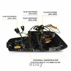 Pour 12-18 Bmw F30 3er F80 M3 Black Fibre Optic Led Strip Séquentielle Tail Lights