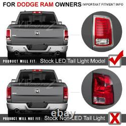 Pour 13-18 Dodge Ram Noir Tron Style Led Tube De Stationnement Lampe De Queue De Frein