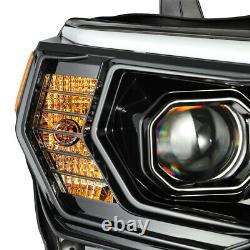 Pour 14-20 Toyota 4runner Pro-series Midnight Black Housing Projector Phares