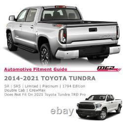 Pour 14 -21 Toyota Tundra Drl Led Tuil Lumières De Frein Paire Claire