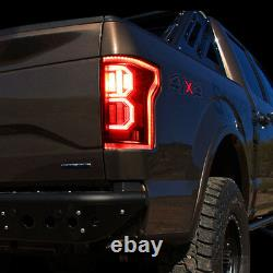 Pour 15-17 Ford F-150 3d Led Drl Black Clear Rear Tail Brake Light Parking Lamps