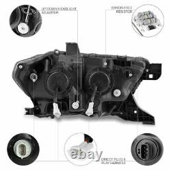 Pour 16-21 Toyota Tacoma Sinister Black Smoke Signal Séquentiel Drl Phare