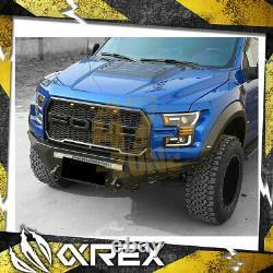 Pour 17-20 Ford F150 Raptor Alpharex Pro Series Projecteur Phares Avec Drl Black