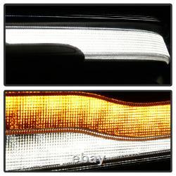 Pour 19-21 Dodge Ram 1500 Black Sequential Led Drl Signal Projecteur Phare