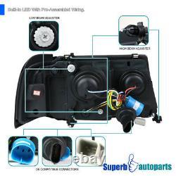 Pour 2001-2011 Ford Ranger Black Led Drl Strip Projecteur Phares Signal Lumières
