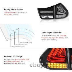 Pour 2004-09 Lexus Rx330 Rx350 Black Newest Led Tail Lights 4pc