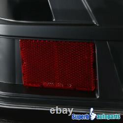 Pour 2006-2013 Chevy Impala Black Halo Led Drl Feux Arrière Lampes De Frein Arrière