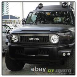 Pour 2007-2014 Toyota Fj Cruiser Black Bumper Bumper Feule De Brouillard Led Drl Lampes De Conduite