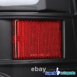 Pour 2009-2018 Dodge Ram 1500 2010-2018 2500 3500 Led Drl Strip Tail Lights Black