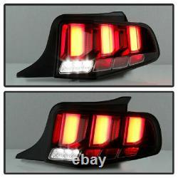 Pour 2010-2014 Ford Mustang Noir Clair Sequential Tube Tail Lampe De Frein Léger
