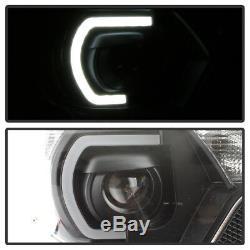 Pour 2012 2013 2014 2015 Toyota Tacoma Led Drl Lumière Tube Projecteur Bk Phares