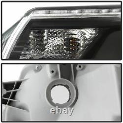 Pour 2012-2015 Toyota Tacoma Pickup Led Drl Light Tube Headlights Black Rh+lh