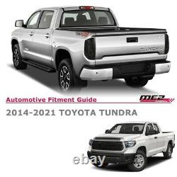 Pour 2014 -2019 Toyota Tundra Led Drl Brake Tail Lights Black Smoke Pair
