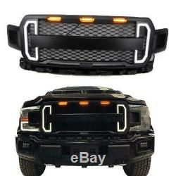 Pour 2018-2020 Ford F150 Raptor Style Mat Calandre Noire Withled Drl Lumière