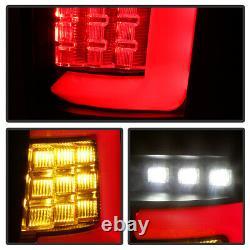 Pour 99-04 Jeep Grand Cherokee Full Led 3d Barre De Lumière Black Tail Signal De Frein