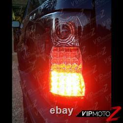 Pour 99-04 Jeep Grand Cherokee Laredo/limited Sport L+r Black Led Tail Light Lamp
