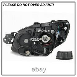 Pour Black Smoke 06-07 Subaru Impreza Wrx Led Drl Light Tube Projecteur Phares