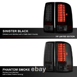 Pour Gmc Sierra 07-13 Sinister Black Smoke Boîtier Led Tail Lampe De Frein Léger