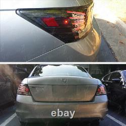 Pour Honda Accord 08-12 Cp2/cp3 4dr Led 3d Bande Black Tail Lampe De Frein Arrière
