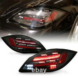 Pour Porsche 09-12 987 Boxster Cayman 718 Style Sequential Led Black Tail Light
