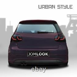 Pour Vw Golf 5 V Mk5 Soda Original Jom Urban Led Rear Lights Black Smoke Set
