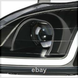 Projecteur Noir Phare Lumineux Led Bar Drl Signal Clair Pour 99-00 Honda CIVIC