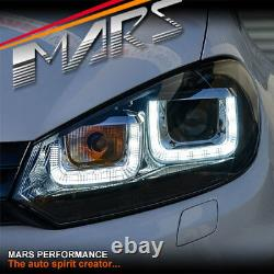 R20 Style 3d Led Bar Drl Projecteur Lumières Pour Volkswagen Vw Golf VI Mk-6