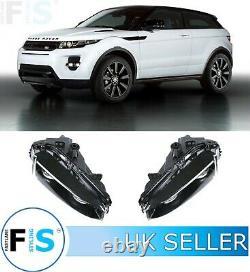 Range Rover Evoque Noir Feux De Brouillard Avant Lampes Drl Paire Des Deux Côtés Led 12-16