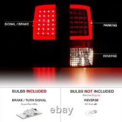 Rouge D'usine Pour 09-18 Dodge Ram 1500 2500 3500 Neon Tube Led Tail Lights Set