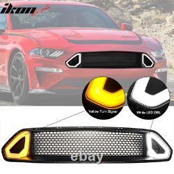 S'adapte 18-20 Ford Mustang R Spec Unpainted Avant Pare-chocs Capot Calandre Supérieure Avec