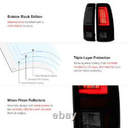 Sinister Black Pour 03-06 Silverado 1500 2500 3500hd Led Neon Brake Tail Light