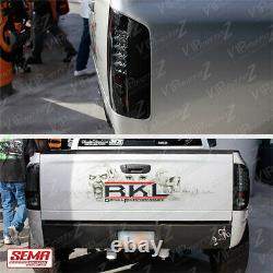 Sinister Black Smoke Led Tail Lampe Lumineuse Pour 2007-2008 Dodge Ram 1500 2500 3500