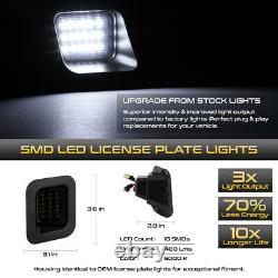 Smoke Lens09-18 Dodge Ram 1500 Black Led Barre Tail Lampe+license Plaque Étiquette Lumière
