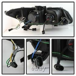 Spyder Pour Honda CIVIC 2012-2014 Projecteur Phares Light Bar Drl Black Pro
