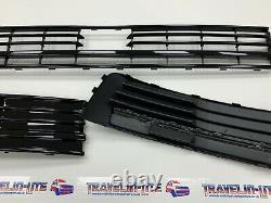 T6 Lower Grille & Light Bar Drl Kit Painted Gloss Black Transporter 15 Radar
