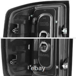 Tube Cyclop Optic Pour 14-18 Chevy Silverado Black Smoke Led Tail Light Lh+rh