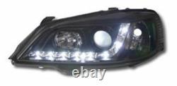 Vauxhall Astra G Mk4 98-03 Black Drl Led R8 Design Projecteur Avant Phares