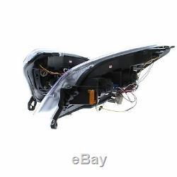 Vauxhall Astra H Mk5 2004-2011 Noir Drl Style Head Light Lamp Paire Gauche Et Droite
