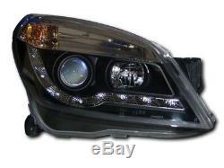Vauxhall Astra H Mk5 Noir Drl Led R8 Design Projecteur Phares Avant