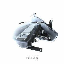 Vauxhall Corsa C 2000-2006 Noir Drl Diable Eye Head Light Lamp Paire Gauche Et Droite