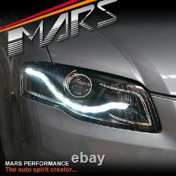 Véritable Led Drl Projecteur Double Phares De Tête Pour Audi A4 B7 05-08 Sedan & Avant
