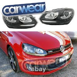 Volkswagen Vw Golf 6 VI 09-13 Oem Look Led Drl (r Design) Projecteur Phares